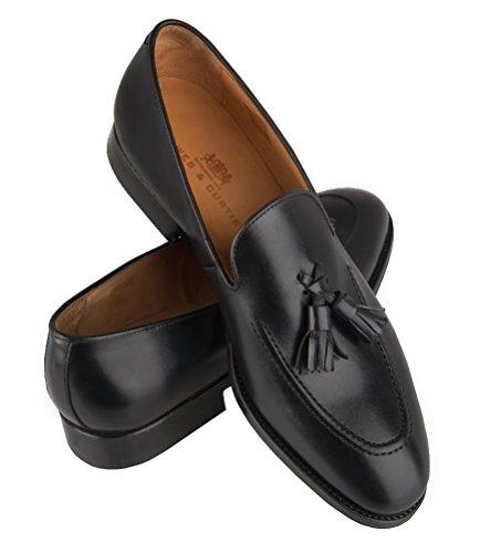 HAWES & CURTIS Homme Tassle Chaussures À Enfiler Regular Fit Loafer Noir