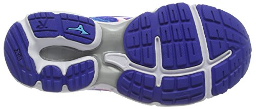 Mizuno Wave Rider 19, Scarpe da Corsa Donna Blu (Blue (Dazzling Blue/White/Capri))