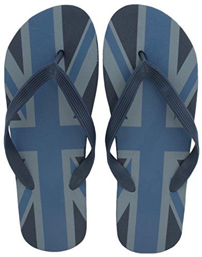 Sandrocks Herren Union Jack Sommer Strand tragen Flip Flops Blau