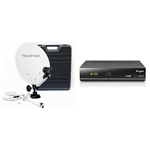 "Telestar Camping 35 - Parabólica (diámetro 13.7"", LNB, 0.1 dB) + Engel RS8100HD - Receptor satélite de sobremesa (Full HD, PVR, Lector Conax, WiFi, USB 2.0, HDMI, DVBS2, 1 tunner)"