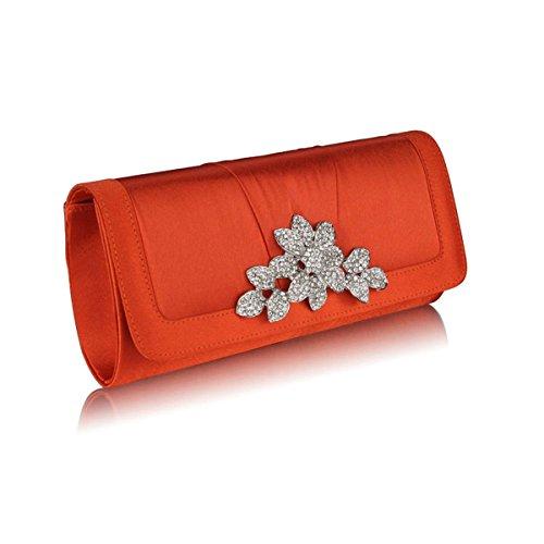 Xardi London-ARADE, damigella, abiti da sera, da donna, con chiusura sacchetti Arancione (Corallo)