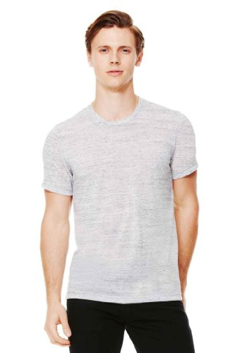 Poly Tee (Bella 3650 Unisex Poly-Cotton Short Sleeve Tee - White Marble, Large by Bella)