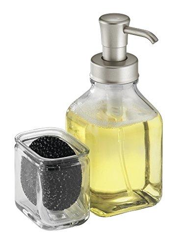 mdesign-pompa-dispenser-sapone-in-vetro-con-organizzatore-portaspugna-e-pagliette-per-lavandino-cuci