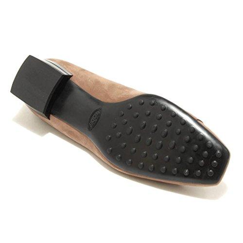 1688G decollete tortora TOD'S GOMMA scarpa donna shoes women Tortora