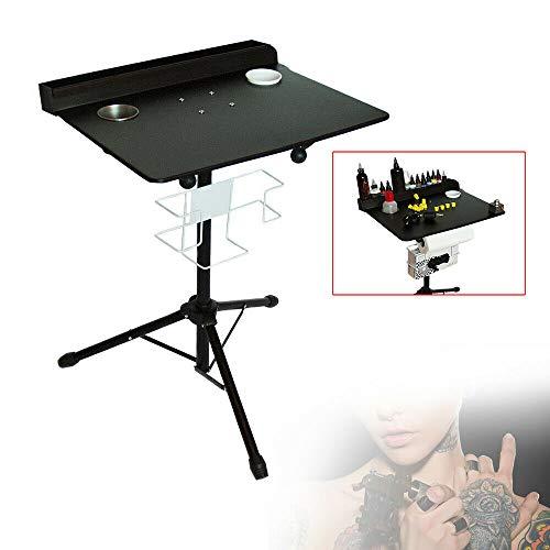 Tattoo Ständer,LFJD Tragbar Tattoo-Arbeitsplatz Einstellbare Höhe 61-107cm/24-42in Eisenpaint Tisch Fester Desktop Tätowier Werkzeuge - Höhe Workstation