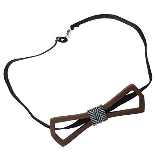 Cravate Noeud Papillon en Bois de Marié Accessoire de Mariage Mode Cravate Homme 6#