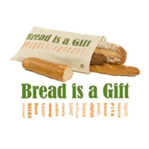 Zertifizierte Bio-Baumwolle, bedruckte wiederverwendbare Brotbeutel, 1 Beutel - ECOBAGS -