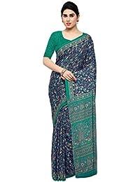 Rajnandini Women's Crepe Silk Printed Saree(JOPLEI1004_Multicolor_Free Size)