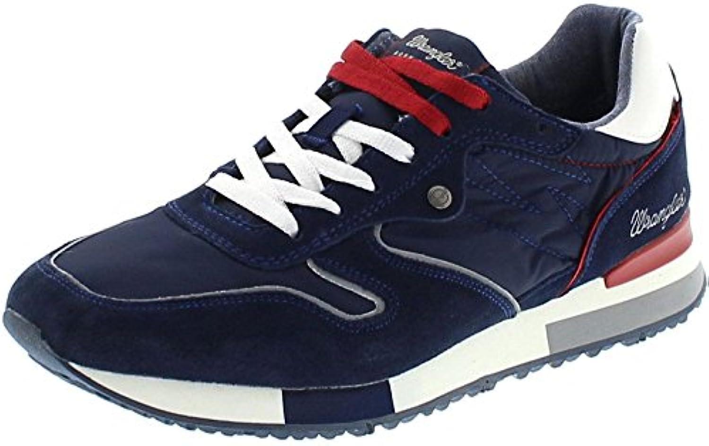 FB Fashion Boots Wrangler WM181081 Forest Navy Herren Sneaker Blau Freizeitschuhe