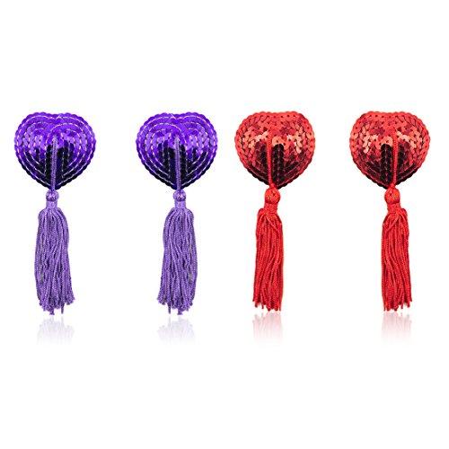 Violett&Rosso Medium Copricapezzoli in silicone, Domowin Donna Cuore (6py)