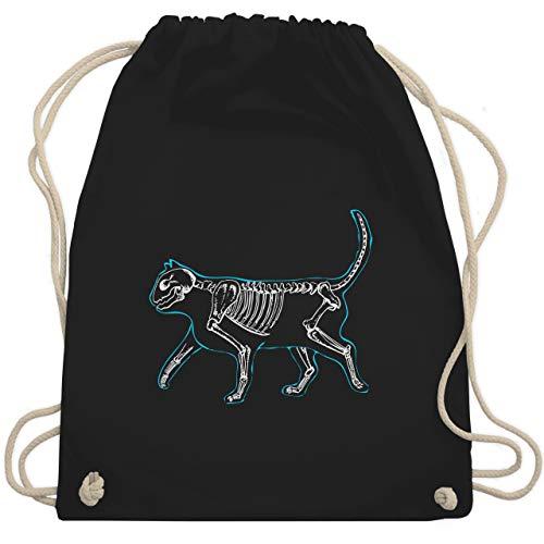 Katzen - spooky cat - Unisize - Schwarz - WM110 - Turnbeutel & Gym Bag