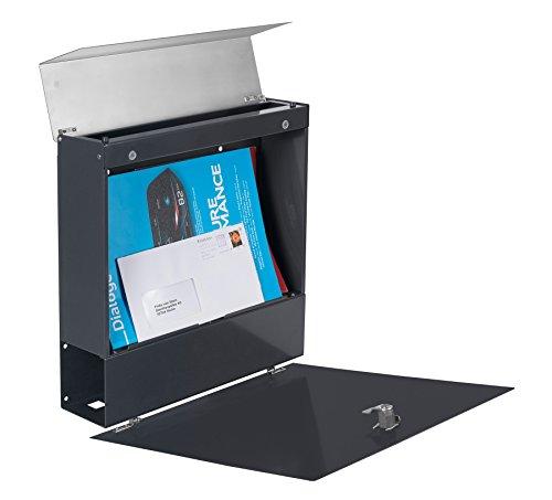 Frabox Design Briefkasten NAMUR Anthrazitgrau / Edelstahl - 7