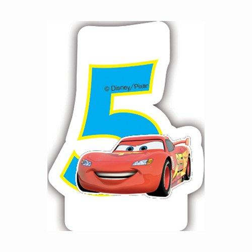 Disney Cars Geburtstagskerze zum 5. Geburtstag