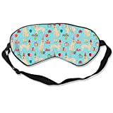 Golden Retreiver Birthday Blue 100% Silk Sleep Mask Comfortable Non-Toxic, Odorless and Harmless,Soft Blindfold Eye Mask Good for Travel and Sleep