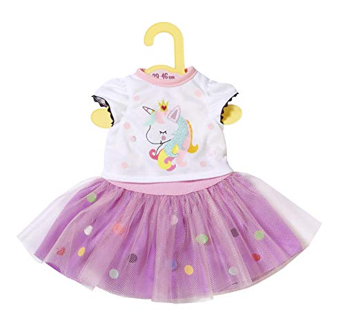 Zapf Creation 870495 Dolly Moda Einhorn Shirt mit Tutu, Puppenkleidung 39-46 cm