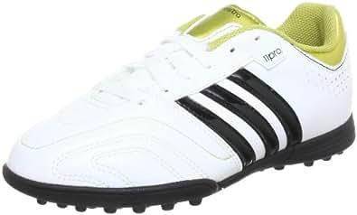 adidas 11Questra TRX TF J, Chaussures de football garçon - Blanc (RUNNING WHITE FTW / BLACK 1 / METALLIC GOLD), 38 2/3 EU