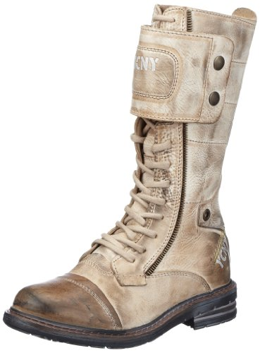 Yellow Cab SOLDIER W, Damen Combat Boots, Grau (Taupe), 39 EU