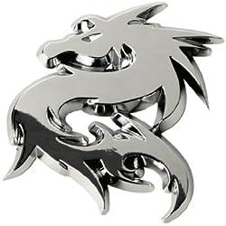 """Sumex Log1614 - Emblema"""" Dragon"""" Cromado, 56X62 mm"""