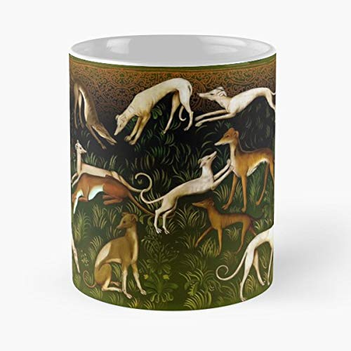 Greyhounds Sighthounds Greyhound Sighthound Dog Whippets Whippet Animals - Il miglior regalo di tazza da caffè in ceramica da 11 once