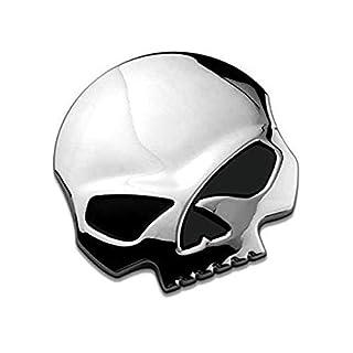3D Metallschädel -Auto & Motorrad-Aufkleber Schädel Emblem Aufkleber Auto Styling Zubehör Abziehbilder
