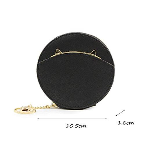 CLOTHES- Borsa a moneta da borsa della borsa della borsa della borsa della borsa delle signore Borsa del sacchetto della moneta Versione coreana del biglietto da visita semplice della busta della pers Nero