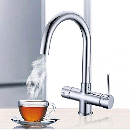 Chrom Instant Hot/Kochendes Wasser Küche Wasserhahn 3 in 1 kaltes Wasser Filter & Heizung Tank - 6