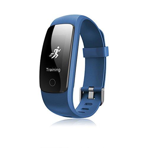 miavogo id107Plus Smart Wristband Armband mit Blut Druck minitoring Smartwatch Sport Armband (Herz- und Sleep Monitor, Kalorienzähler, Call/SMS Benachrichtigung, sitzende Lebensweise Reminder) Fitness Tracker für Android und IOS, blau