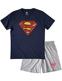 Superman Homme Pyjama court - bleu marine