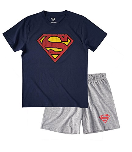 Superman Hombres Pijama mangas cortas – Azul marino