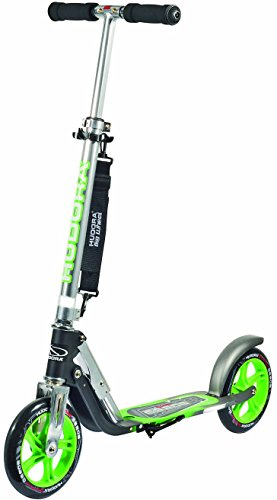 HUDORA Big Wheel Scooter 205, Tret-Roller klappbar - City-Scooter - 14695, schwarz/grün