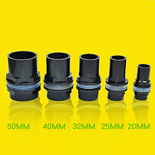 Homyl Aquatic Fish Tank Water Pipe Tube Valves Joint Connector Kit 20/25/32/40/50mm – 40mm Dia