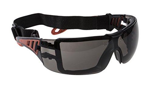 Port-West Schutzbrille Augenschutz Brille Technische Brille Sicherheitsbrille (Rauch)