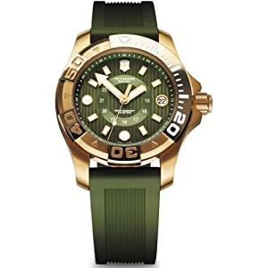 Victorinox Dive Master 500 Reloj para Mujer Analógico de Cuarzo con Brazalete de Goma V241557