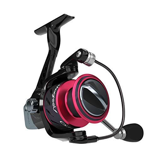 Magreel Moulinet de Pêche Bobine Fixe Roulement Fluide 9+1 Leger Puissant pour pêche en Mer en Eau Douce Etang Rivière
