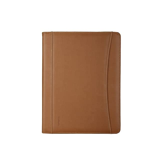 1b04d1c73958 Leathario-Portfolio A4 en cuir PU pour bureau, porte document en cuir,  agenda
