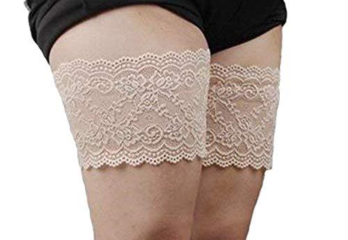 Hippolo TM FM8 donne elastico anti-sfregamento bande coscia impediscono coscia sfregamenti con silicone (B (55-60 cm), carne)
