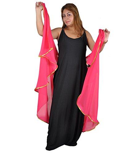 Egypt Bazar Bauchtanzschleier Bauchtanz Schleier Tanzschleier in verschiedenen Farben- halbrund - Traditionelle Indische Bauchtanz Kostüm