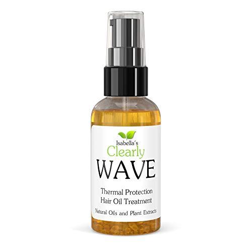 Clearly WAVE, il miglior olio per la protezione dei capelli dal calore. Protegge dall'arricciacapelli, dal calore e dalla rottura. Trattamento per la ricci e delle doppie punte con Jojoba.