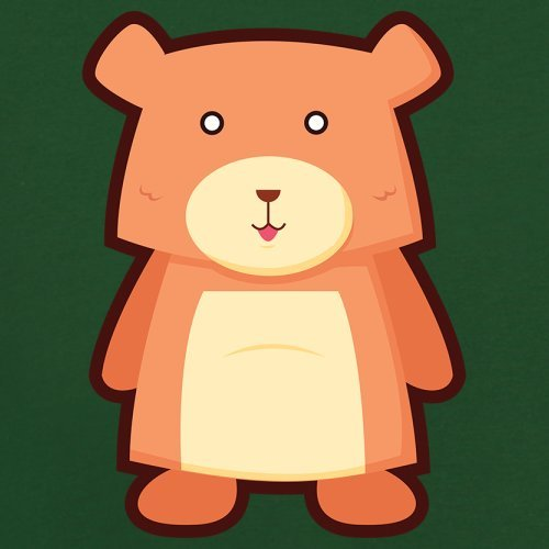 Cute Bear - Herren T-Shirt - 13 Farben Flaschengrün