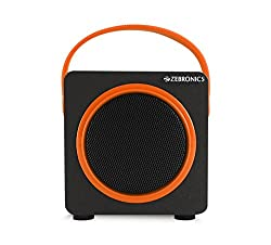 Zebronics Smart Portable Bluetooth Speake with USB | FM | TF Card slot (Orange)