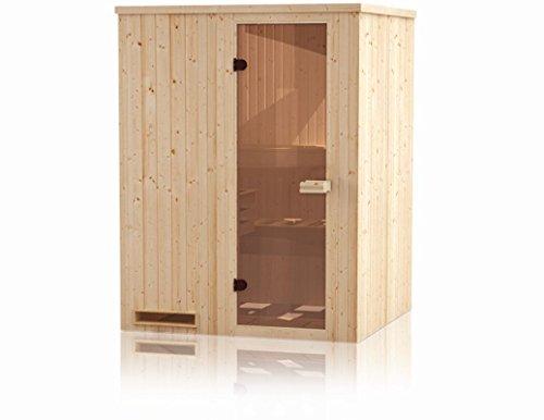 Elementsauna Gobi 60 mm mit Dachkranz - Außenmaße (B x T x H): 150 x 150 x 205 cm