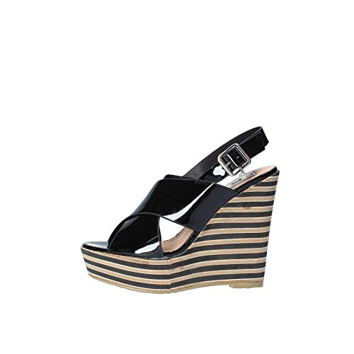 06 MILANO 0676 Sandalo Donna Nero 38