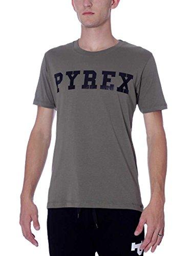 Pyrex Herren T-Shirt Einheitsgröße Militär-Grün