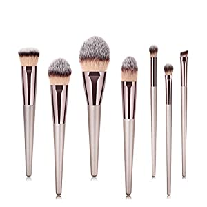 CINEEN Professional 7pcs/set Makeup Cosmetic Brushes Set Powder Foundation Eyeshadow Lip Brush Tool (Champagne Gold)