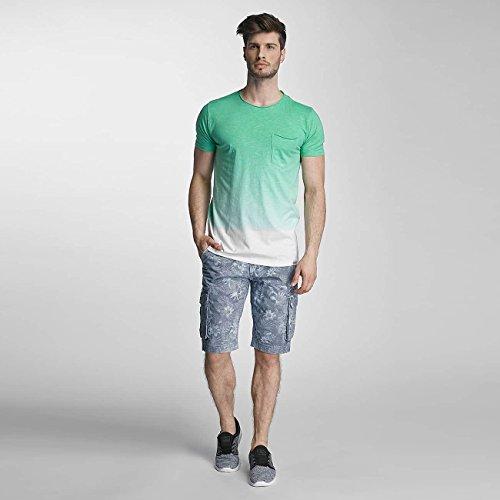 SHINE Original Uomo Maglieria/T-shirt Dip Dyed Verde