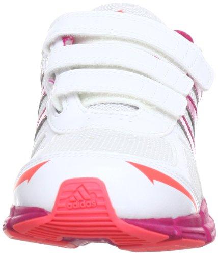 adidas adifast CF K, Chaussures de running enfant mixte Blanc - Weiß (RUNNING WHITE FTW / BLAST PINK F13 / RED ZEST S13)