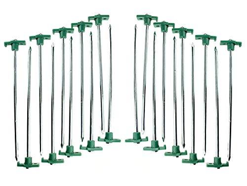 SE 9nrc10-20verzinktem rostfreies Zelt Peg Pfähle mit Grün Stopper -