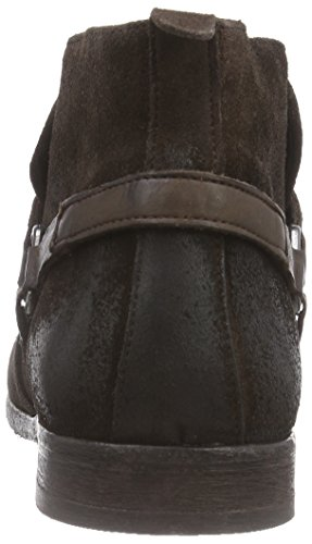 Hudson London HAGUE Herren Biker Boots Braun (Brown)