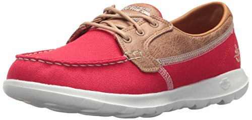 Skechers Go Walk Lite-Coral Womens Casual Sports Shoes 6 UK/ 39 EU Rot (Stiefel Go Rot-go)
