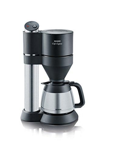 Severin Cafe Caprice KA 5743 Kaffeemaschine (1400 Watt, 1 L, Edelstahl, Kunststoff) schwarz